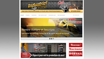 Conception de site web - Industriel plus inc.