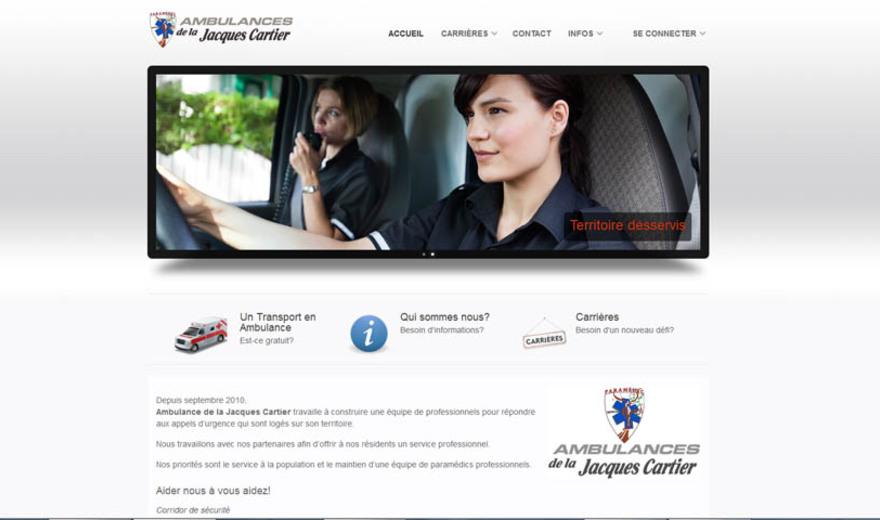 Conception de site web - Ambulance de la Jacques-Cartier