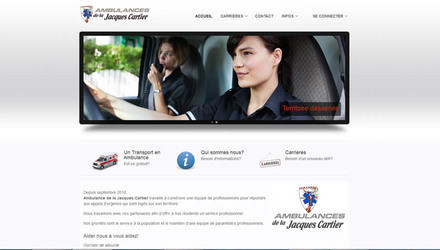 Conception de site web - Ambulance de la Jacques-Cartier