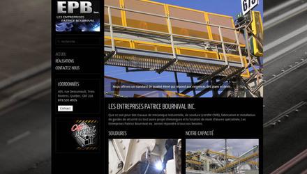 Conception de site web - Les Entreprises Patrice Bournival inc.