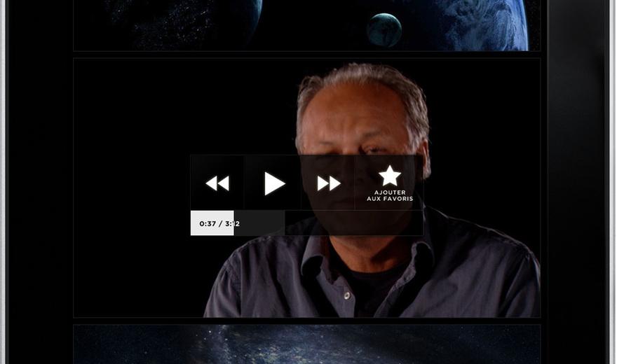 Application iPad: Du big bang au vivant
