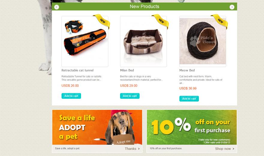 Magasin en ligne -  The Fido's Closet  - Animal pet shop