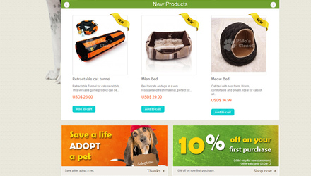 Magasin en ligne -  The Fido's Closet  - Animal pet shop