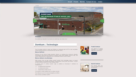 Domfoam - site web