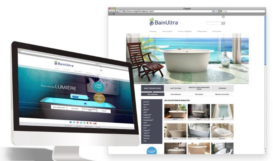 Création du site Web - Bain Ultra