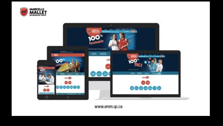 Évolution du site Web - École secondaire privé marcelle-mallet