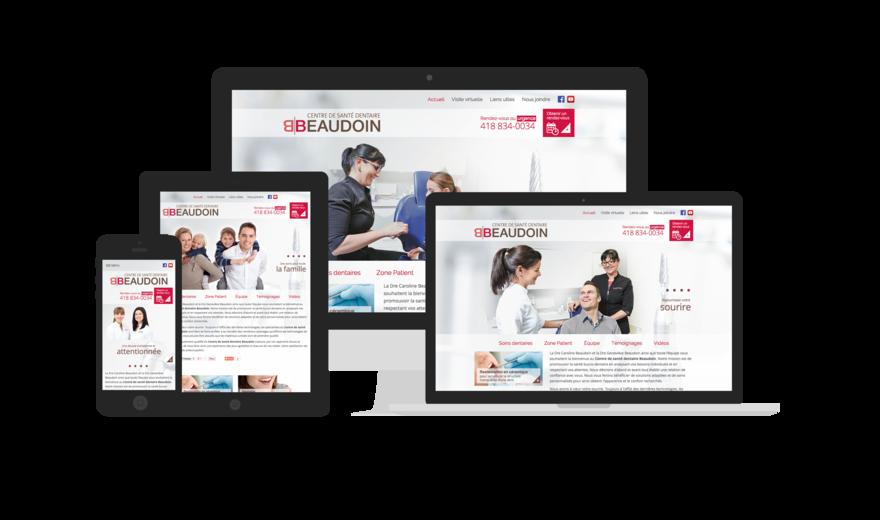 Création du site Web - Centre de santé dentaire Beaudoin
