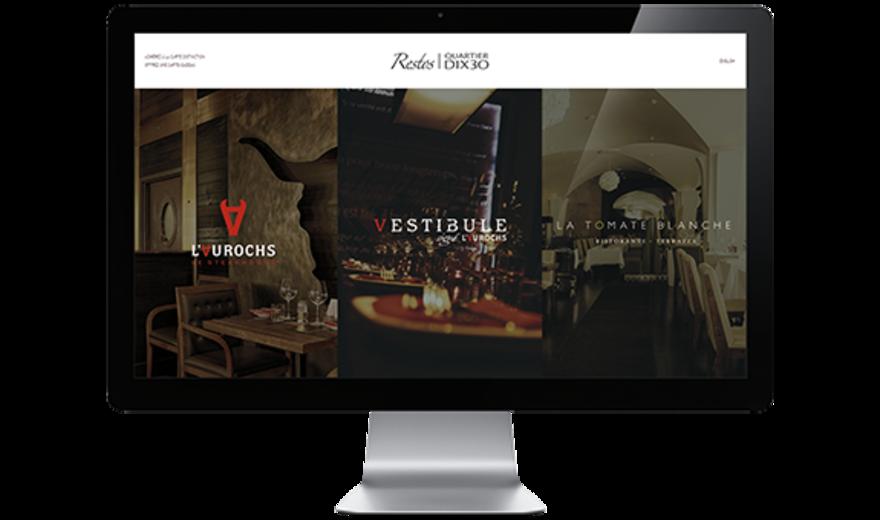 Restos Dix 30 - Site web portail