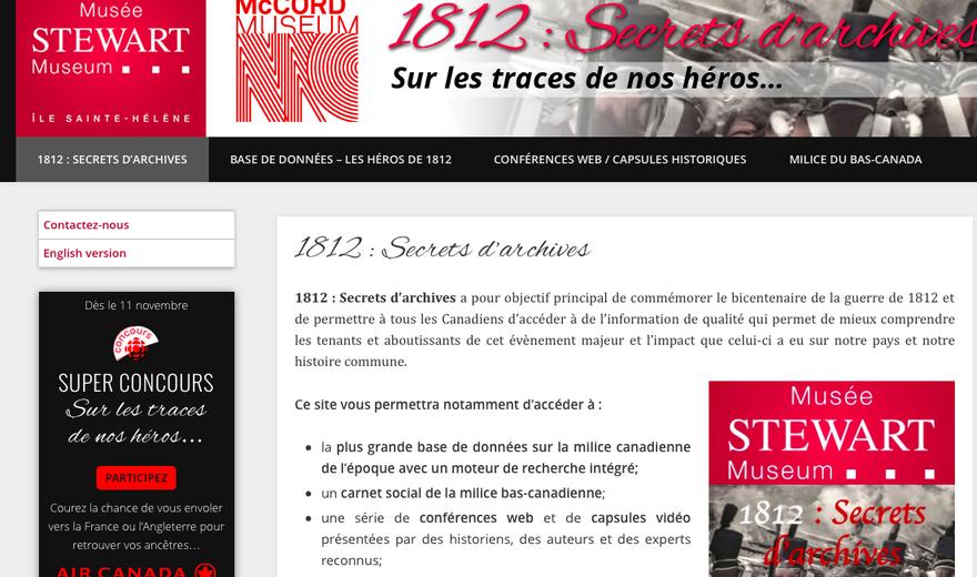 SIte de la guerre de 1812