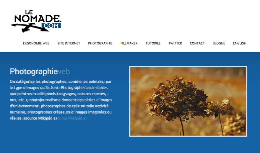 Site de Le Nomade.com (version 2104)