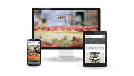 Pâtisserie St-Martin, site Web réactif
