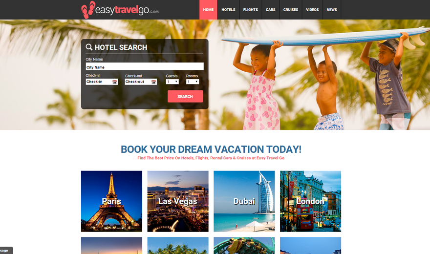 BOOK YOUR DREAM VACATION TODAY!