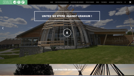 Site Web pour Stand Against Uranium