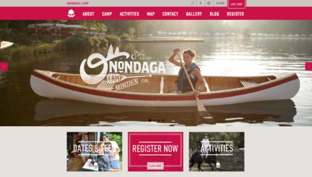 Site web pour le camp Onondaga