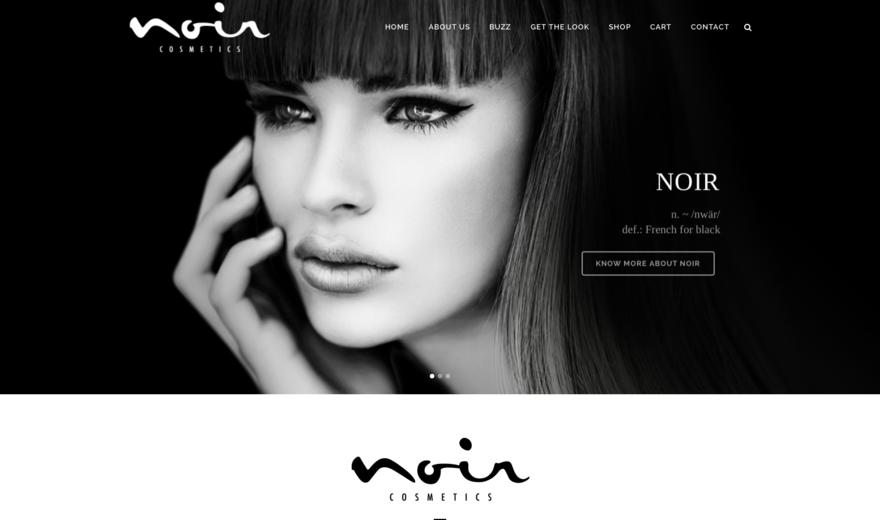 Site Web de Noir Cosmetics (e-commerce)