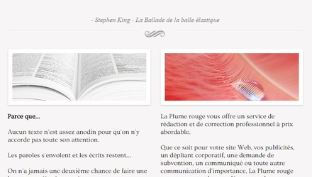 Site web La Plume rouge