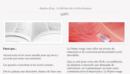 Site web La Plume rouge