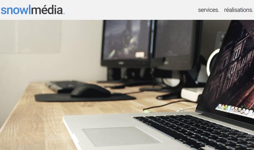 Page d'accueil de Snowl Média