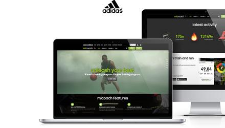 Un site web pour adidas Micoach
