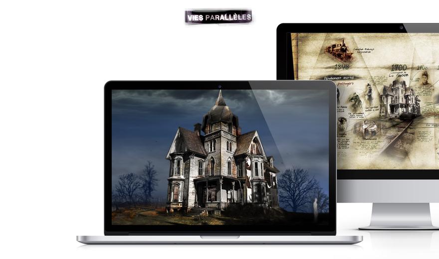 Création d'un site Web immersif pour Vies Parallèles