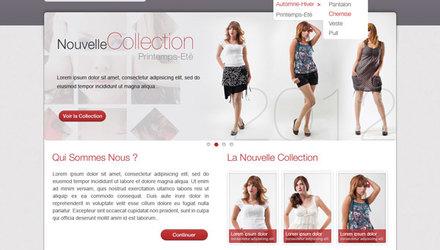 Catalogue en ligne de produits prêt-à-porter