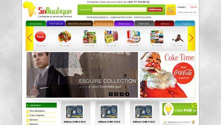 Création site web sous Magento