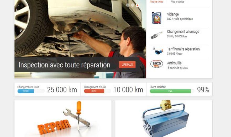Site web sur mesure pour garage