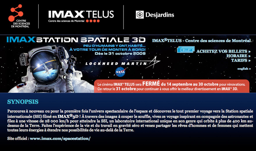 IMAX - Station Spatiale 3D