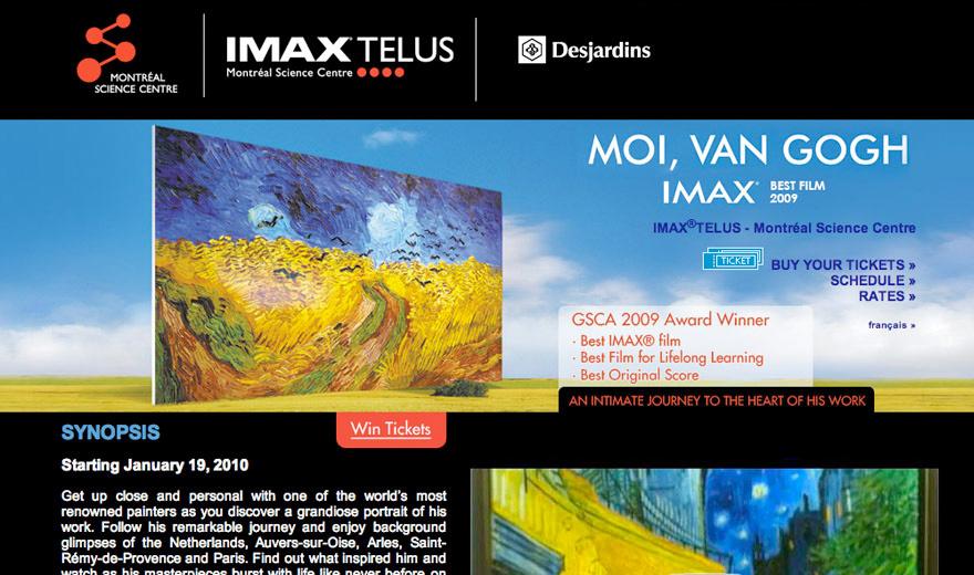 IMAX - Moi, Van Gogh