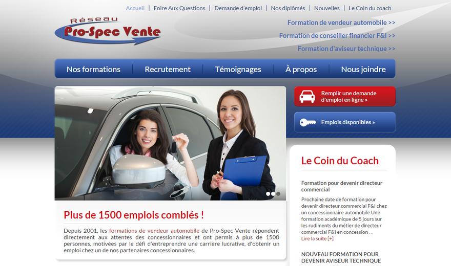 Étude de cas centre de formation en vente automobile