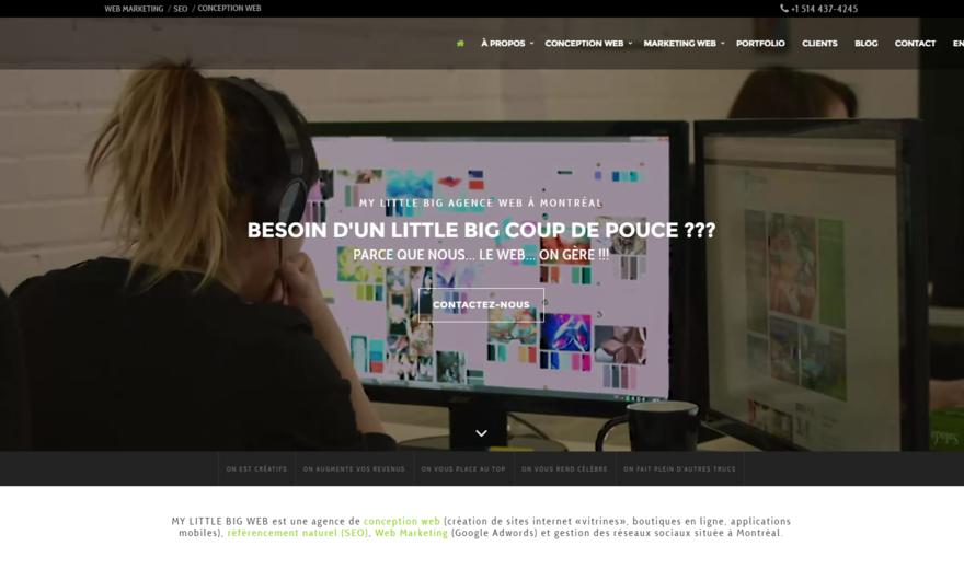 Création du Site de My Little Big Web  | Agence Web à Montréal