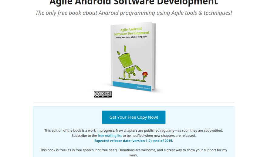 Agile Android Software Development - Site d'un livre auto-publié