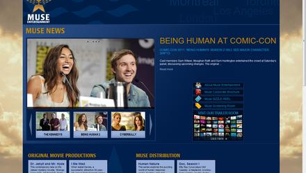Muse Entertainment - Site Web réalisé par Kezber