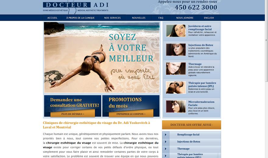 Clinique Docteur Adi - Site Web réalisé par Kezber