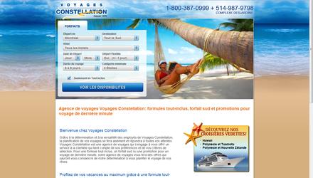 Voyages Constellation - Site Web réalisé par Kezber