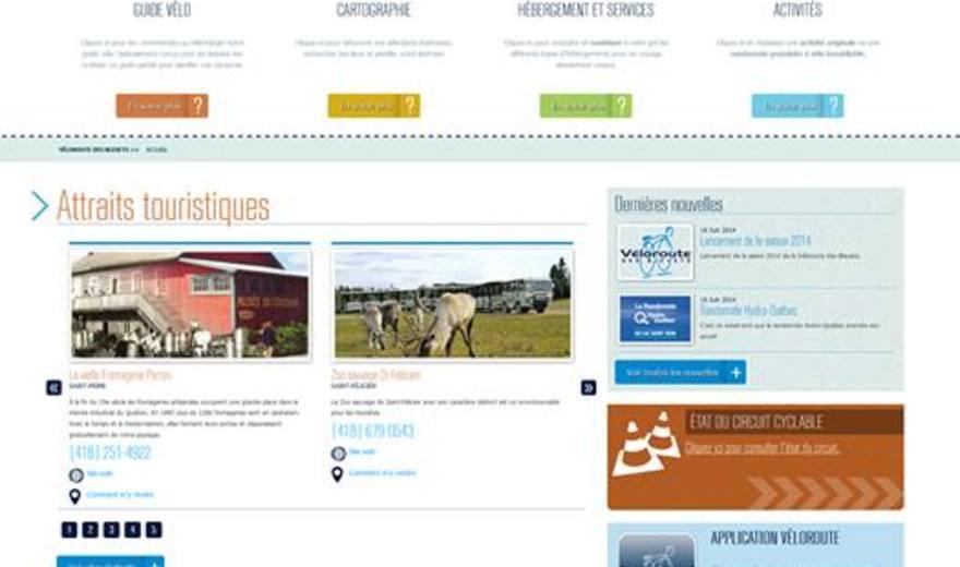 Site internet de la Véloroute des Bleuets