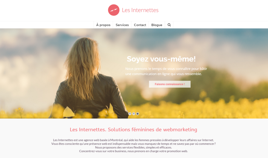 Notre site web, notre style, moderne, féminin et efficace