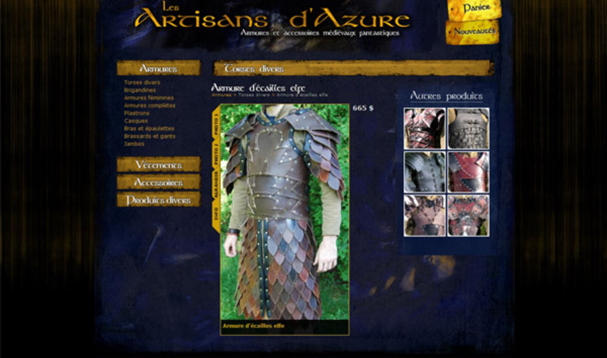 Commerce Électronique - Artisans d'Azure