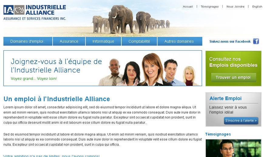 Site d'emploi pour l'Industrielle Alliance