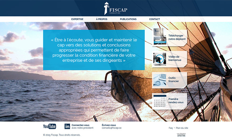 Conception du site Web de Fiscap