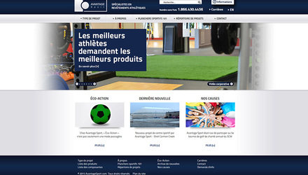 Conception du site Web d'Avantage Sport