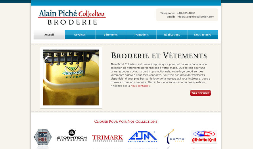 Alain Piché Collection Broderie