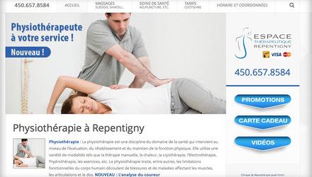 Positionnement pour : massage repentigny