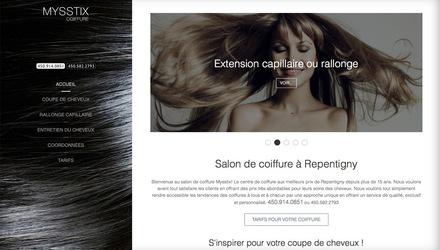Site web Joomla et rang pour : salon de coiffure repentigny