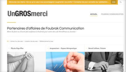 Création de site web par Foubrak