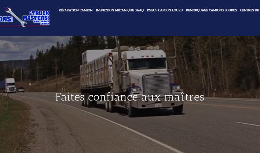Conception de site Web pour TMS TruckMasters