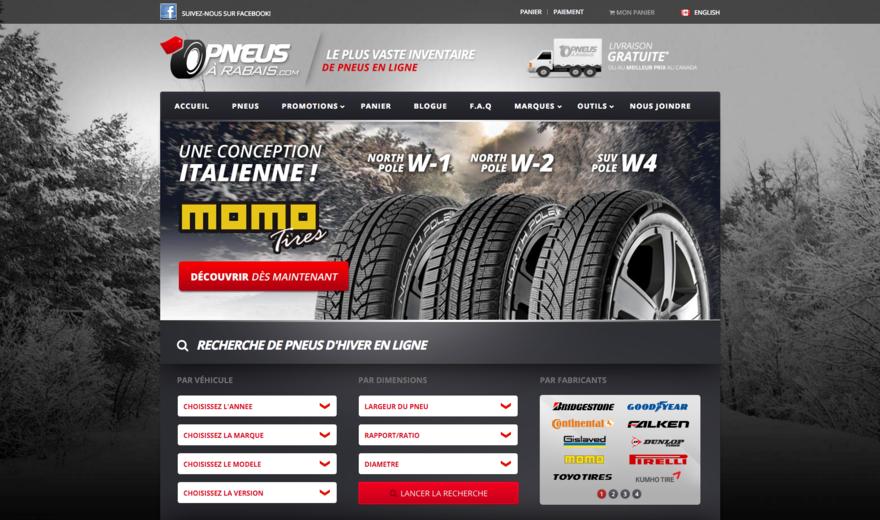 SIte web - Pneus à Rabais.com
