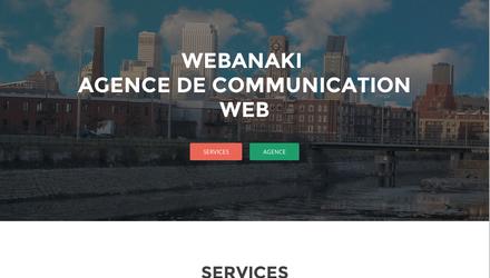 Site web Agence Webanaki