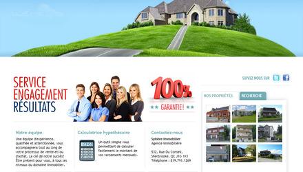 Création site web - Sphereimmobilier - agence immobilière