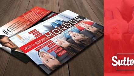 Création d'un flyer promotionnel, slogan et nouvelle image